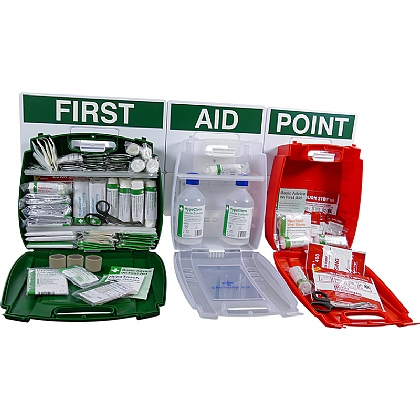 Evolution British Standard Compliant Comprehensive Catering First Aid Point (Large)
