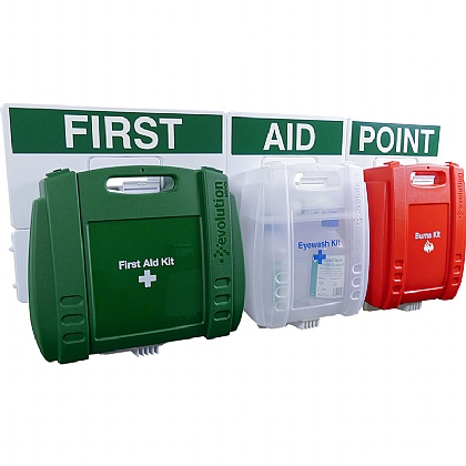 Evolution First Aid, Eye Wash and Burns Point (Large)