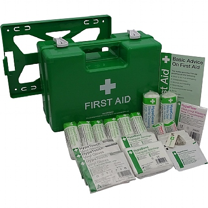 Deluxe 1-10 Persons Statutory First Aid Kit in Green Case