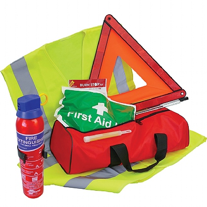 Basic Vehicle Safety Kit with Fire Extinguisher