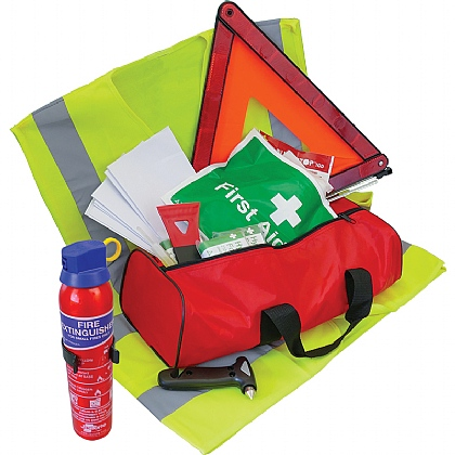 Family Vehicle Safety Kit with Fire Extinguisher