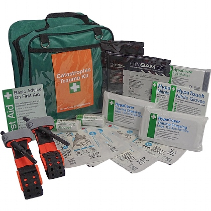 Catastrophic Bleed Kit, Comprehensive in Grab Bag