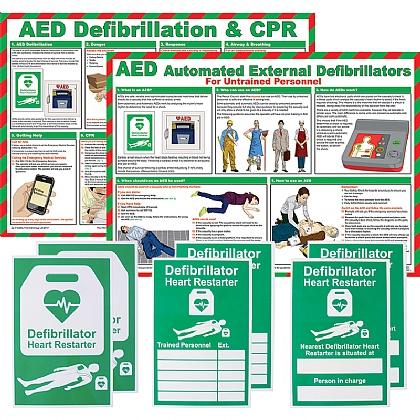 Defibrillator AED Awareness Bundle Pack