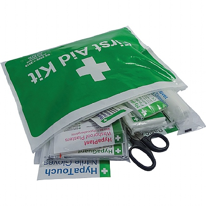 Personal Issue First Aid Kit in Vinyl Wallet