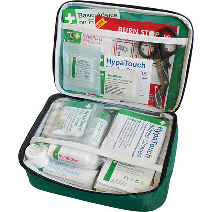 British Standard Compliant First Aid Kit in Nylon Case