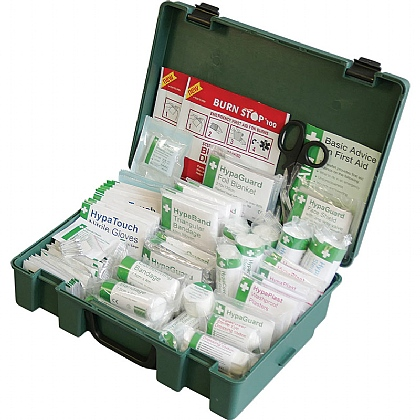 British Standard Compliant Economy Workplace First Aid Kit, Large - Pack of 6