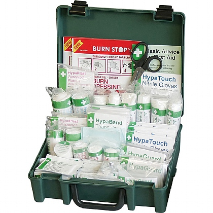 British Standard Compliant Economy Workplace First Aid Kit, Medium - Pack of 10