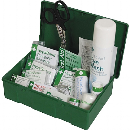 British Standard Compliant Travel First Aid Kit with Eyewash Spray