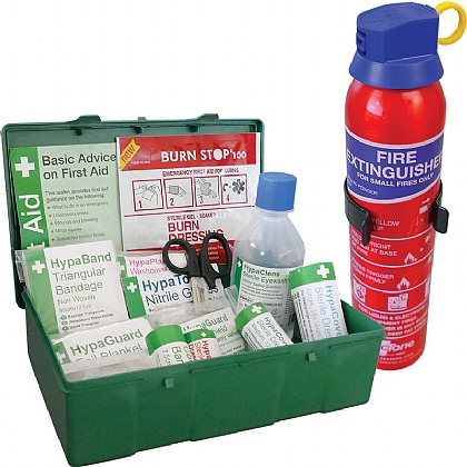 British Standard Compliant Travel First Aid & Fire Extinguisher Kit