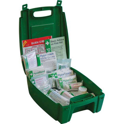 Evolution British Standard Compliant Workplace First Aid Kit in Green Case (Small)