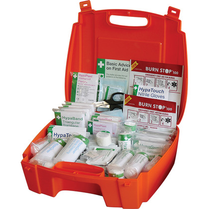Evolution British Standard Compliant Workplace First Aid Kit in Orange Case (Large)