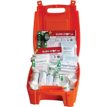 Evolution British Standard Compliant Workplace First Aid Kit in Orange Case (Medium)