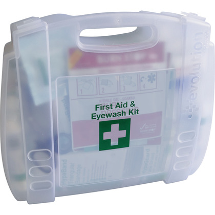 Evolution British Standard Compliant First Aid & Eyewash Kit, Small