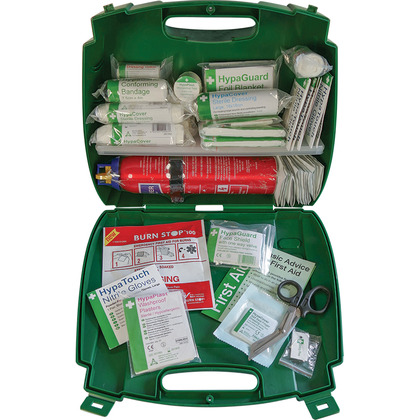 British Standard Compliant First Aid Kit with Fire Extinguisher, Small
