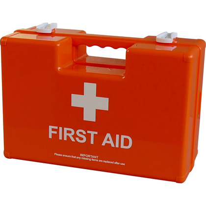 British Standard Compliant Deluxe Workplace First Aid Kits, Orange Case (Large)