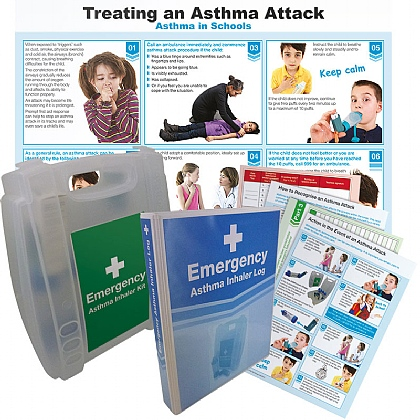Emergency Asthma Pack with 10 Disposable Spacers