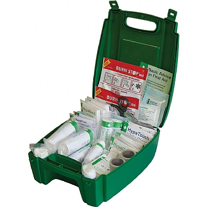 Evolution Catering First Aid Kit BS8599 in Green Case (Medium)