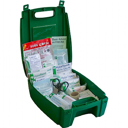 Evolution Catering First Aid Kit BS8599 in Green Case (Small)
