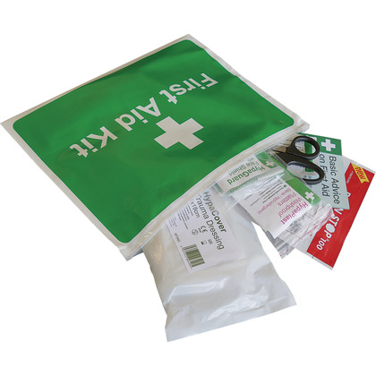 Motorcycle First Aid Kit in Vinyl Zipper Wallet