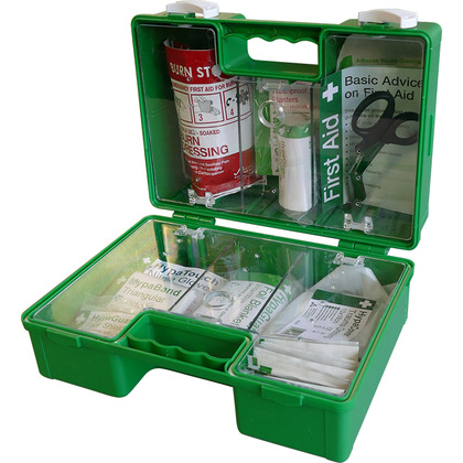 British Standard Car and Taxi First Aid Kit in Heavy Duty ABS Case