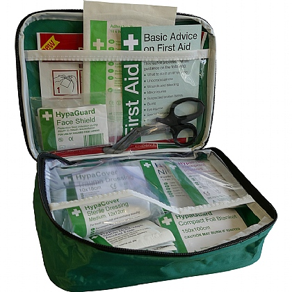 Travel and Motoring First Aid Kit in Nylon Bag