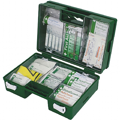 Industrial 21-50 Persons High Risk First Aid Kit in Green Case