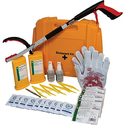 Evolution Sharps Disposal Kit with TurtleSkin CP Insider 430 Gloves