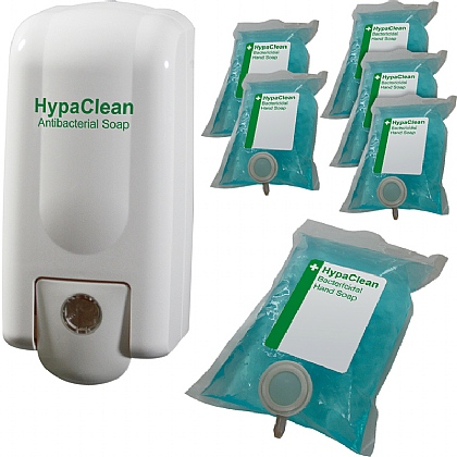 HypaClean Antibacterial Soap Starter Pack (6X Soap Pouches)