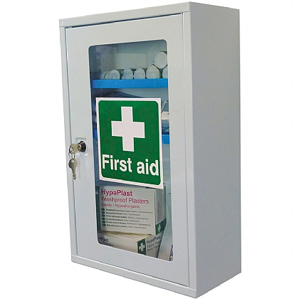 First Aid Clear Door, Single Depth Cabinet