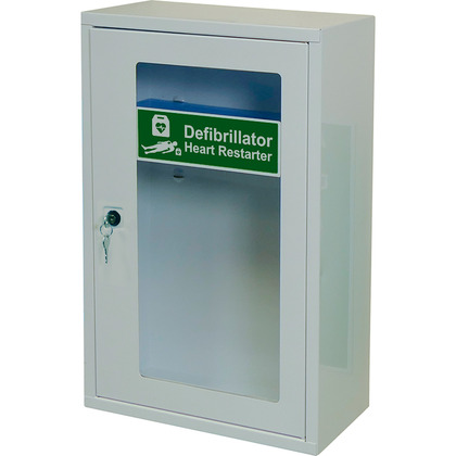 HypaGuard Defibrillator Wall Cabinet with Key Lock