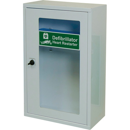 HypaGuard Defibrillator Wall Cabinet with Thumb Lock