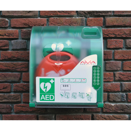 Outdoor Heated AED Cabinet with Digicode