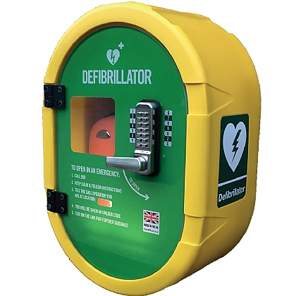DefibSafe Outdoor AED Cabinet with Keypad Lock