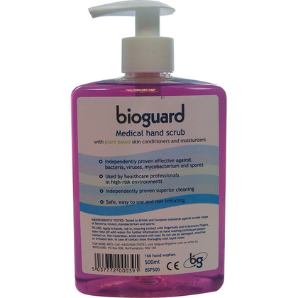 Bioguard Medical Hand Scrub, Pump Dispenser, 500ml