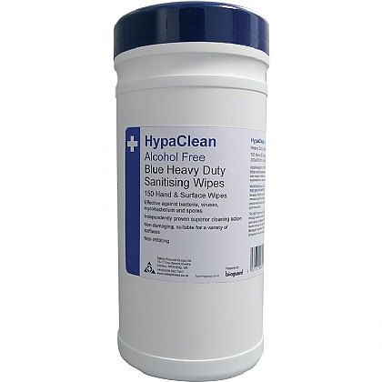 HypaClean Blue Heavy Duty Sanitising Wipes, Pack of 12