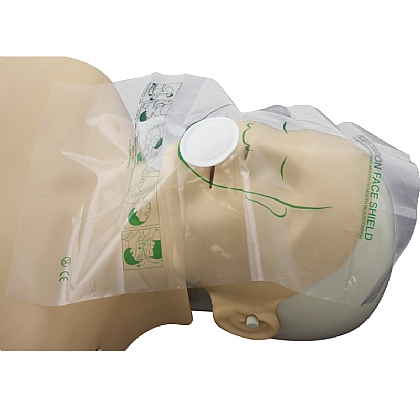 HypaClean Training Manikin Flat Face Shields