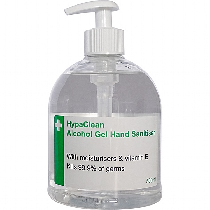 HypaClean Alcohol Hand Gel Pump Dispenser (Pack of 6)
