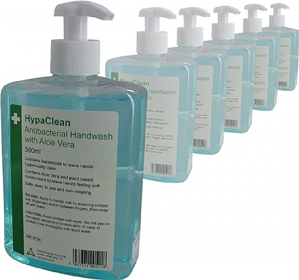 HypaClean Antibacterial Handwash 500ml, Pack of 6
