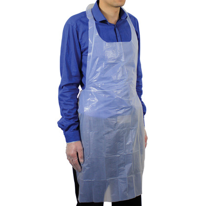 White Polythene Aprons (Pack of 100)