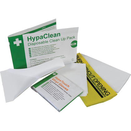 HypaClean Disposable Clean Up Pack