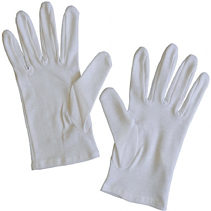 White Cotton Gloves (Pack of 20)