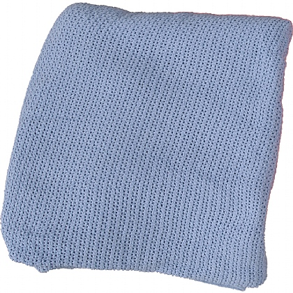 100% Cotton Blanket, Blue