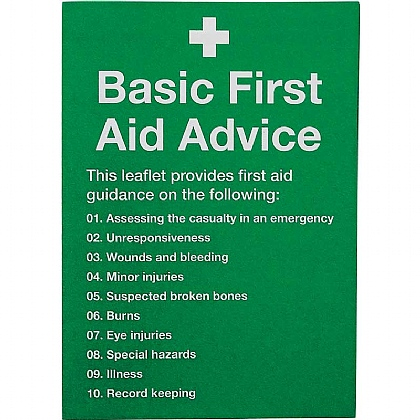 First Aid Guidance Leaflet (Pack of 20)