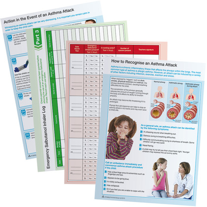 Emergency Asthma Inhaler Log Inserts