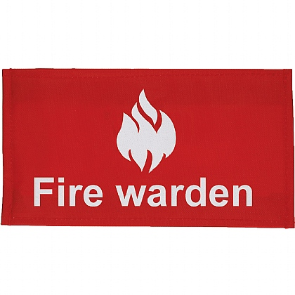 Fire Warden Arm Band Velcro Closure