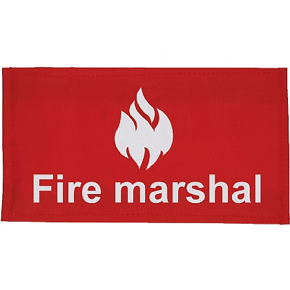 Fire Marshal Arm Band, Velcro Closure