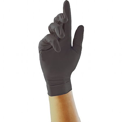 Black Nitrile Gloves, Box of 100