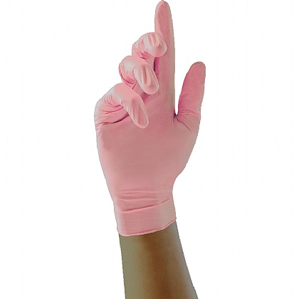 Pink Nitrile Gloves, Box of 100