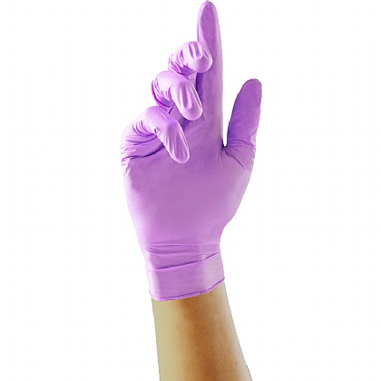 Purple Nitrile Gloves, Box of 100
