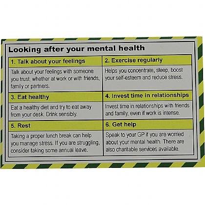 Mental Health Guidance Card
